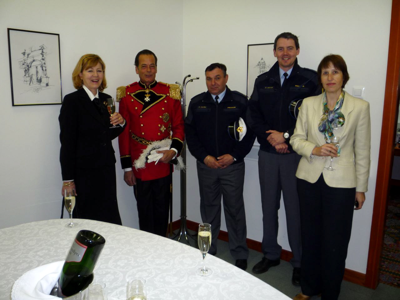 THE CHIEF OF PROTOCOL Mrs. MAJA LORENCIC SVETEK AND THE ASSISTENT Mrs. ALENKA GOLJAR AND THE POLICE ESCORT